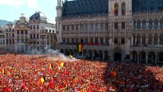 Brüssel bebt! Belgier feiern Hazard und Co.