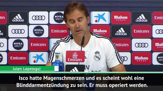 """Lopetegui besorgt: """"Isco muss operiert werden"""""""