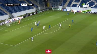 Das 1:4 von KAA Gent gegen die TSG Hoffenheim