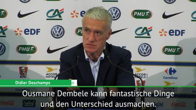 "Deschamps: ""Dembélé kann fantastische Dinge"""