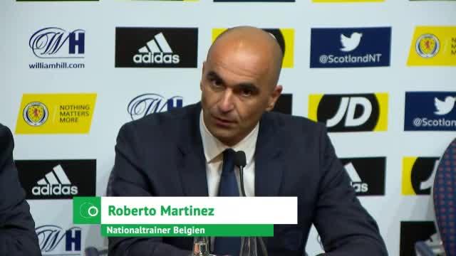 Belgien: Martinez-Loblied auf Eden Hazard