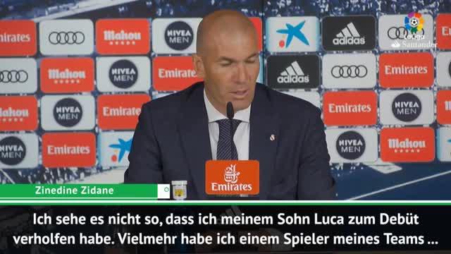 Zidane rechtfertigt den Einsatz seines Sohnes