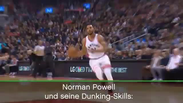 Pow! Norman Powell zeigt Dunking Skills