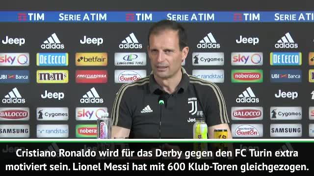 """Allegri: Ronaldo durch Messi """"extra motiviert"""""""