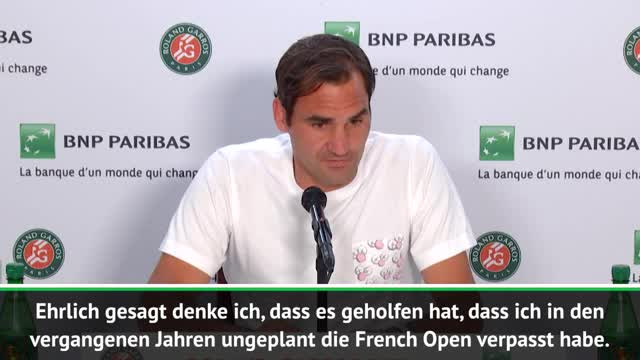 Federer total happy nach French-Open-Comeback