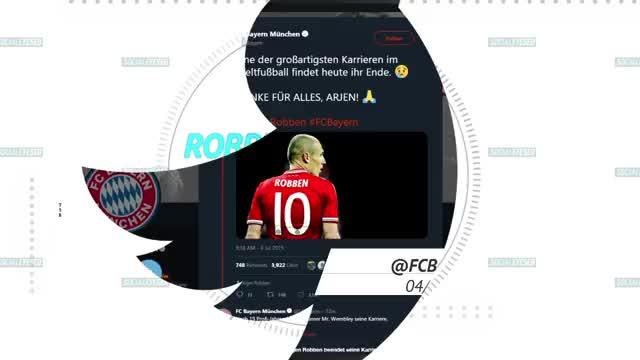 Robben hört auf: Die Fußballwelt sagt Danke!