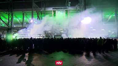 Gladbach-Fans trotzen dem Geisterspiel
