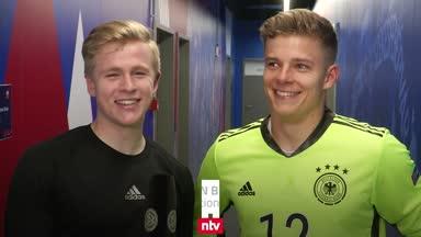 """Deutschlands U21-Helden """"todmüde, aber glücklich"""""""