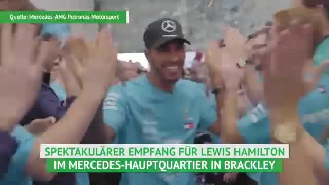 Lewis Hamiltons Rede bei der Mercedes-Feier
