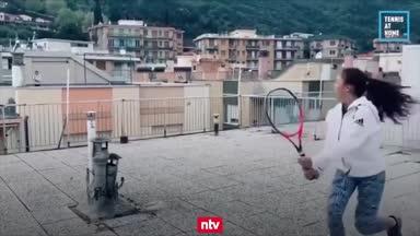 Verrückt: Tennis über den Dächern Italiens