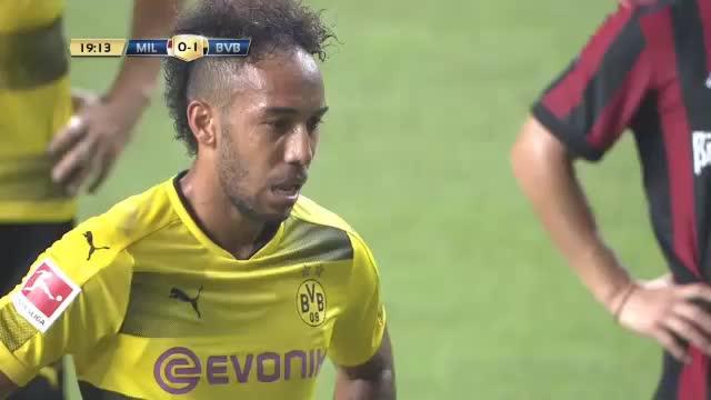 BVB gewinnt dank Aubameyang gegen Milan