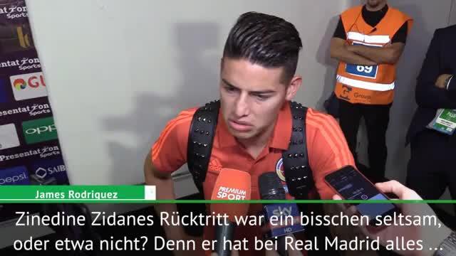 """James: Zidane-Rücktritt? """"Ein bisschen seltsam"""""""