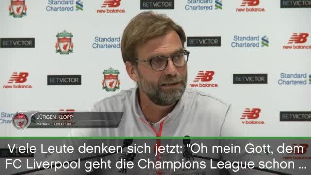 """Klopp: """"Geben alles für die Champions League"""""""