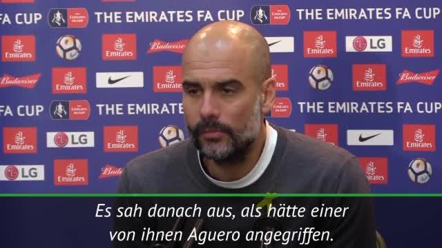 """Guardiola: Aguero? """"Habe nichts gesehen"""""""