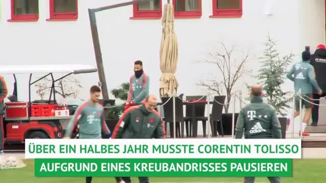 Nach Kreuzbandriss: Tolisso wieder im Bayern-Training