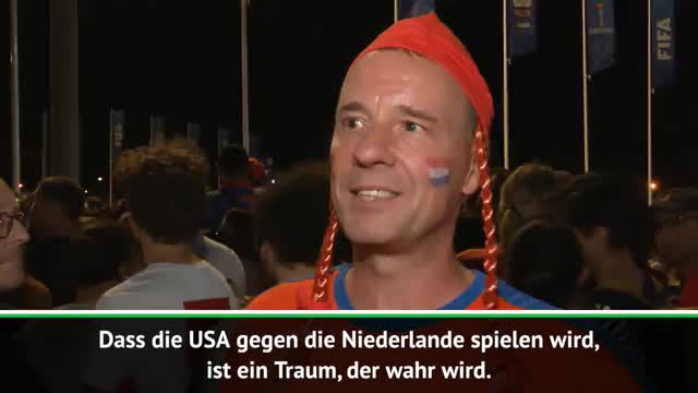 So feiern niederländische Fans den Finaleinzug