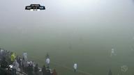 Spielabbruch wegen starken Nebels