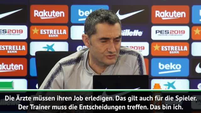"""Valverde zu Dembele-Verletzung: """"Kannte Risiko"""""""