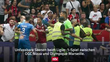 Wilde Randale in der Ligue 1