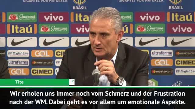 """Brasilien-Coach Tite: """"Erholen uns noch vom Schmerz"""""""