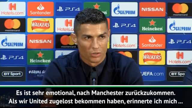 """Rückkehrer Ronaldo: """"Sehr emotional für mich"""""""
