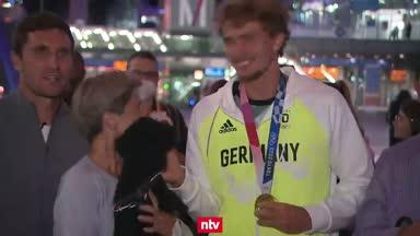 Jubelreicher Empfang für Olympiasieger Zverev