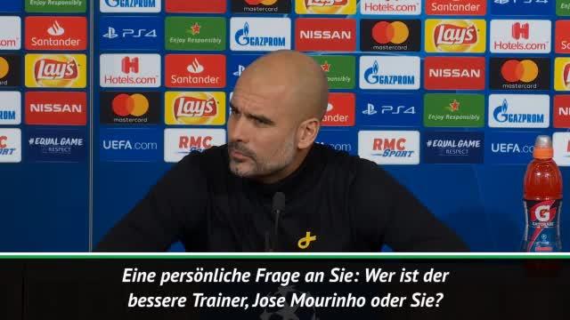 """Mourinho oder Guardiola? Pep """"droht"""" Reporter"""