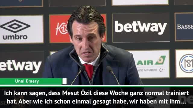"Emery über Özil-Aus: ""Andere hatten es verdient"""