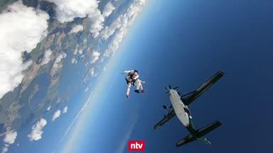 Mit 280 km/h im freien Fall Richtung Erde
