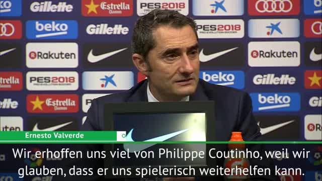 """Valverde: """"Erhoffen uns viel von Coutinho"""""""