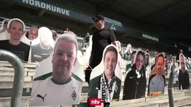 Pappaufsteller der Fans: Gladbach reagiert auf Geisterspiele