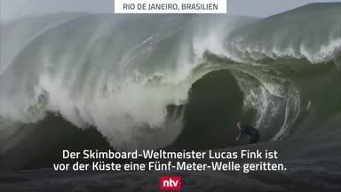 Finks unglaublicher Wellenritt in Rio de Janeiro
