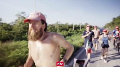 """Deutscher """"Forrest Gump"""" entzückt Triathlon-Fans"""