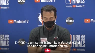 Traum vom NBA-Titel geplatzt: Heat-Coach weint bei der PK