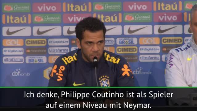 Alves: Coutinho auf Neymars Niveau
