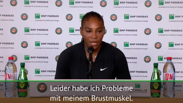 French Open: Williams erklärt ihre Verletzung