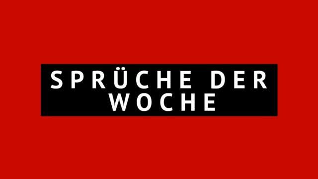 """Sprüche der Woche: """"Shit happens!"""""""