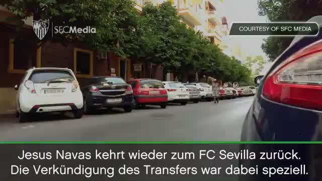 Navas wird von seinem FC Sevilla gekidnappt