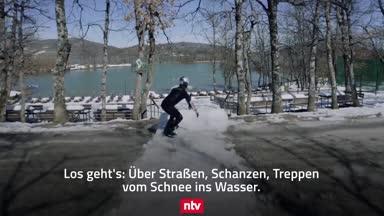 Wenn Snowboard und Wasserski verschmelzen