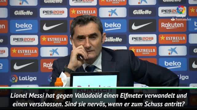 Elfer-Schwäche? Valverde verteidigt Messi