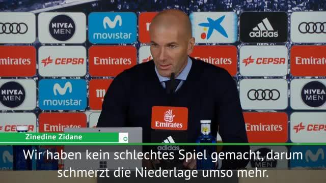 """Zidane nach Niederlage: """"Alles ist sch....."""""""