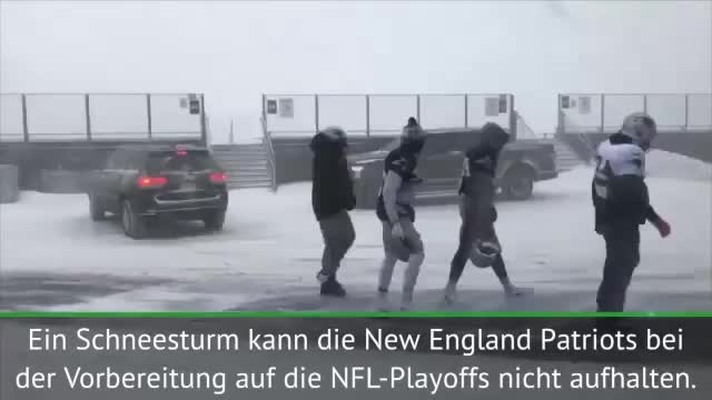 Trotz Schneesturms! Patriots müssen trainieren