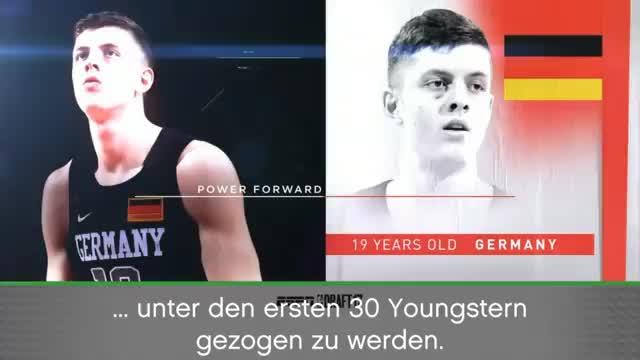 Deutsches Talent Hartenstein zu den Rockets