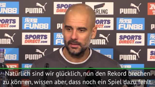 """Guardiola: """"Sprechen nicht über Rekorde"""""""