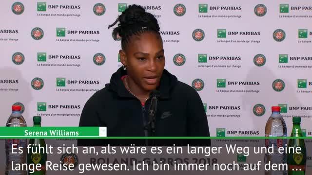 """French Open: Williams: """"Auf dem Weg zurück"""""""