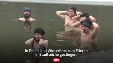 Eisbaden in Polen: Kälteschocker für Körper und Seele