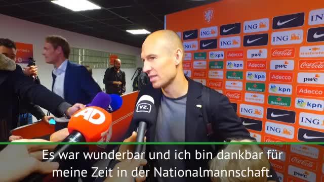 """Robben zu Abschied aus Elftal: """"Bin dankbar"""""""