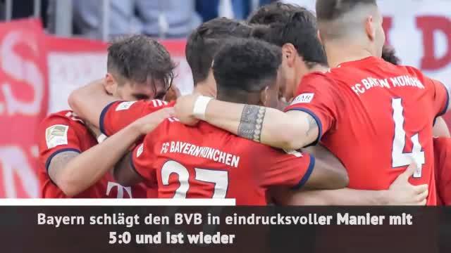 Fast Match Report: Bayern deklassiert Dortmund