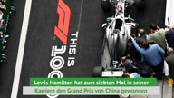 F1: Mercedes-Doppelsieg in China, Vettel Dritter
