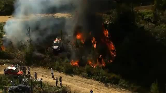 WRC: Flammenmeer in Portugal